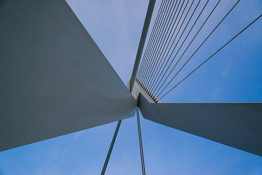 Bridge, Erasmus, Rotterdam, Dutch, Netherlands