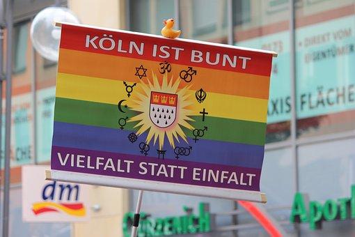 Shield, Cologne, Flag, Colorful Csd, Street Festival