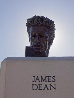 James Dean, Sculpture, Trip, Outdoors, Hollywood