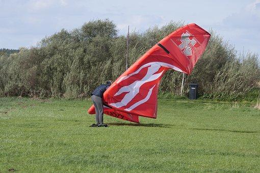 Grass, Nature, Meadow, Kiting, Kite Surfing, Kite