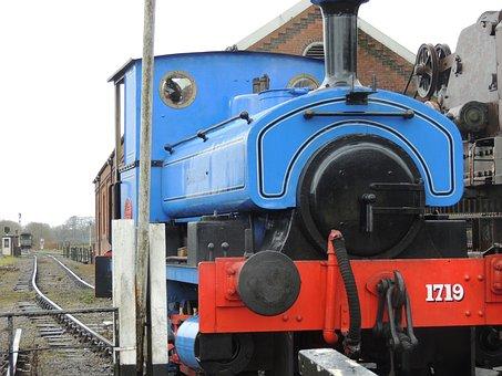 Train, Railway, Railroad Track, Engine, Locomotive