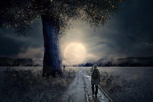 Mati, Moon, Sky, Night, Full Moon, Moonlight