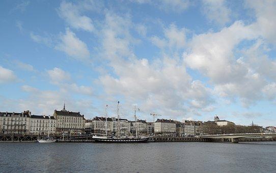 Nantes, Panoramic, Loire, Belem Ship, Docks