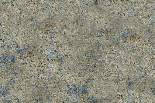 Masonry, Natural Stone, Plaster, Cracked, Facade, Wall