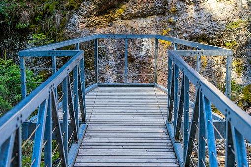 Bridge, Railing, Nature, Wood, Pier, Architecture