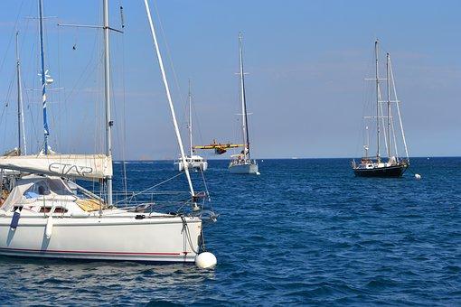 Sailboat, Yacht, Sea, Water, Sail