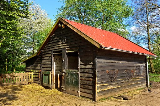 Barn, Stable, Shed, Livestock, Cattle, Rural, Farm, Hay