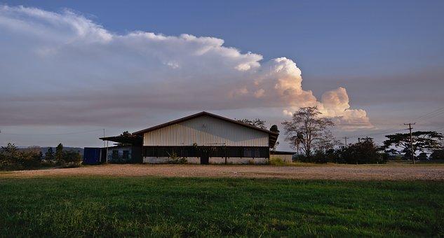 Cloud, Sky, Structure, Warehouse, Heaven, White