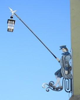 Sky, Lantern, The Fisherman, Klodzko
