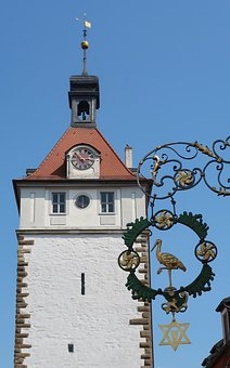 Architecture, Tower, Sky, Clock, Sideboard