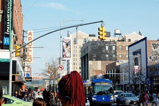 City, Street, Urban, Travel, Tourism, Harlem