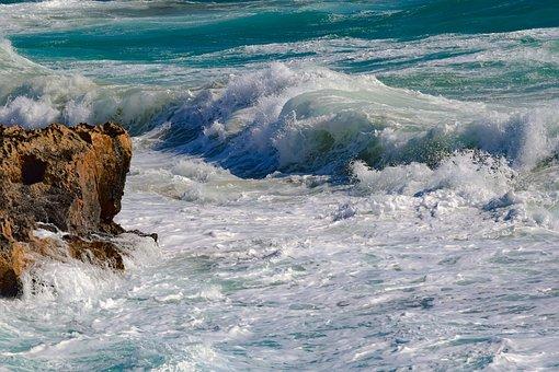 Rocky Coast, Water, Sea, Surf, Wave, Wild, Ocean