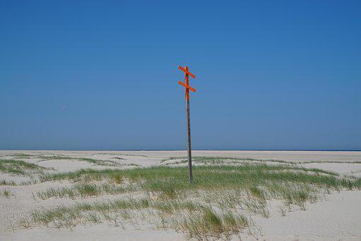 Nature, Sky, Waters, Summer, Sand, Wind, Dune