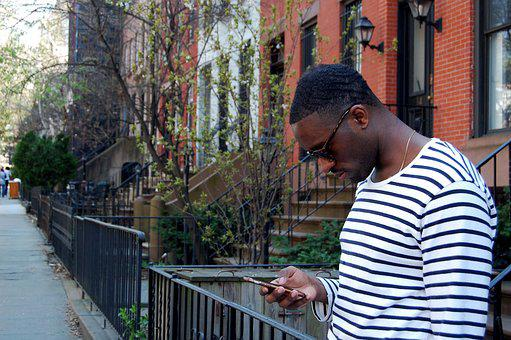 People, Outdoors, City, Street, A Black Man, Iphone