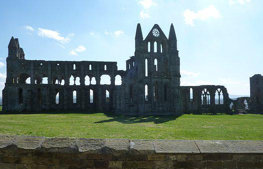 Whitby Abbey, Monastery, Architecture, Outdoors, Sky