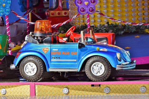 Carousel, Auto, Vw, Beetle, Children Car, Carousel Auto