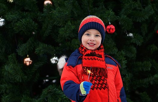 Baby, Winter, Outdoors, Christmas, Celebration