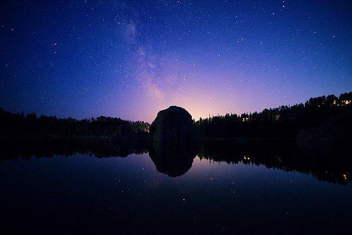Sylvan Lake, Black Hills, Stars, Milky Way, Night