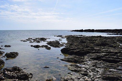 Body Of Water, Side, Sea, Beach, Nature, Pierre, Shore