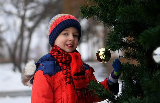 Winter, Snow, Baby, Coldly, Christmas, Outdoors, Park