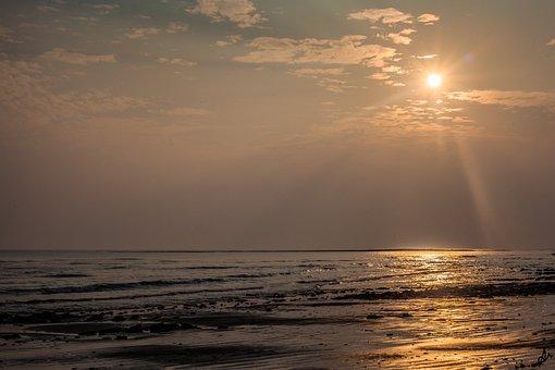Sunset, Dawn, Water, Sun, Dusk, Nature, Sea, Sky