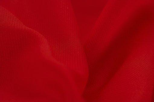 Red, Satin, Silk, Textile, Smooth, Fabric, Fashion