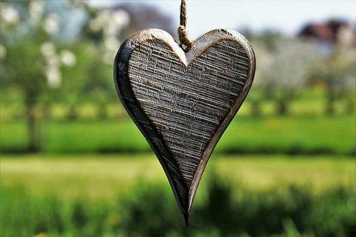 Heart, Wooden, Spring, Feeling, Sad, Pendant, For You
