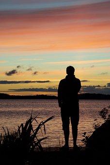 Sunset, Water, Dawn, Dusk, Lake, Finland, Archipelago