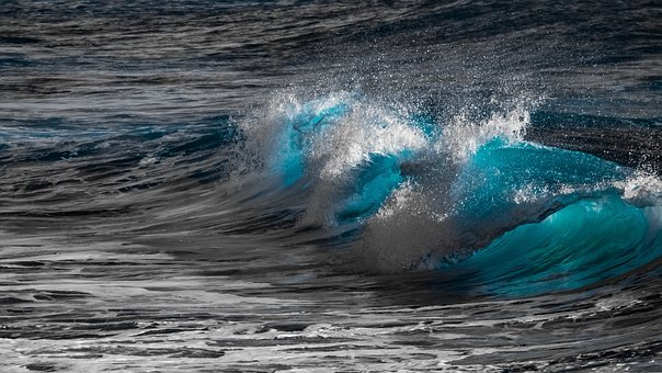 Wave, Surf, Water, Nature, Rolling, Blue, Liquid, Swirl