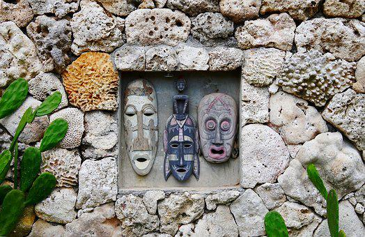 Indonesia, Bali, Stone, Wall, Old, Architecture, Rock