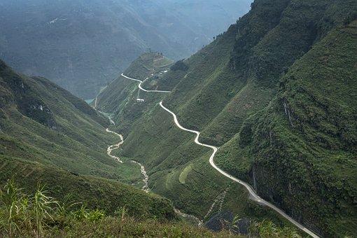 Vietnam, Ha Giang, Street, Mountain, Province