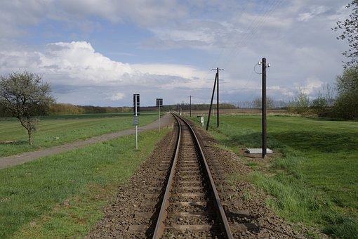 Molli, Railway Line, Grass, Railway, Train