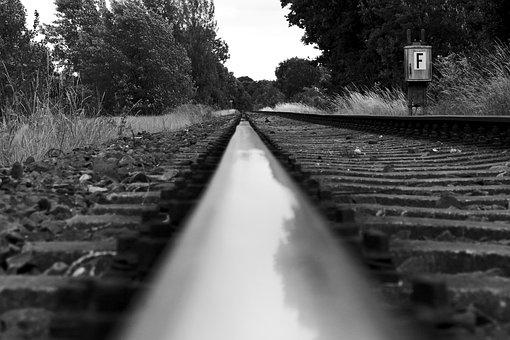 Road, Nature, Train, Black And White