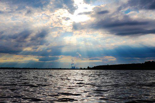 Waters, Nature, Sky, Cloud, Drama, Power Plant