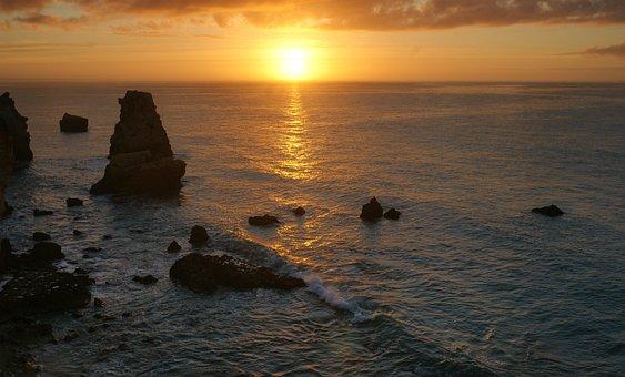 Sunset, Water, Dusk, Sea, Dawn, Coast, Coastline