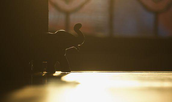 House, Blur, Light, Toy, Animal, Elephant, Cute, Fun