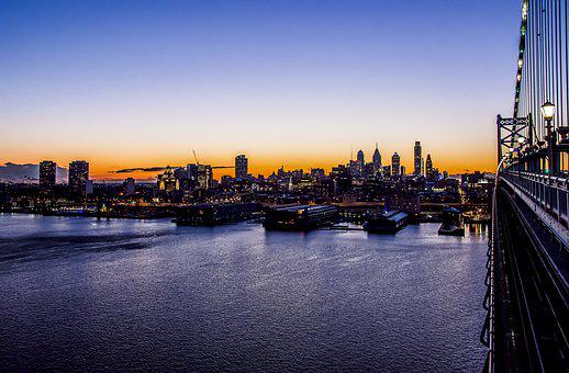 City, Cityscape, River, Skyline, Water, Philadelphia