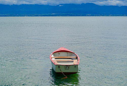 Boat, Water, Tranquil, Peaceful, Sea, Travel, Horizon