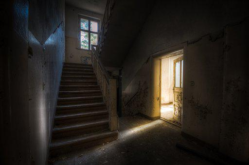 Light, Architecture, Step, Door, Window, Eerie, Dark