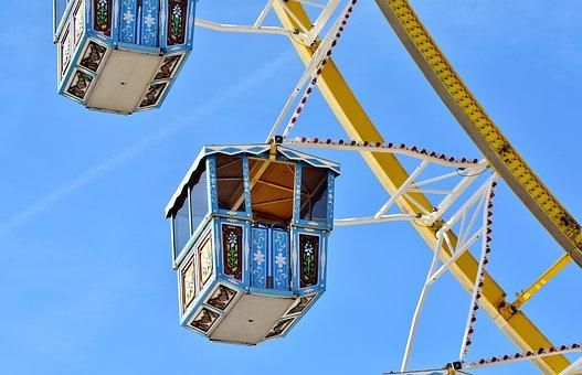 Ferris Wheel, Fair, Oktoberfest, Wagon, Year Market