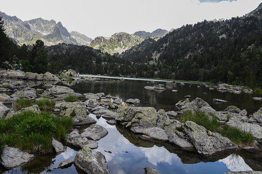 Body Of Water, Mountain, Landscape, Nature, River