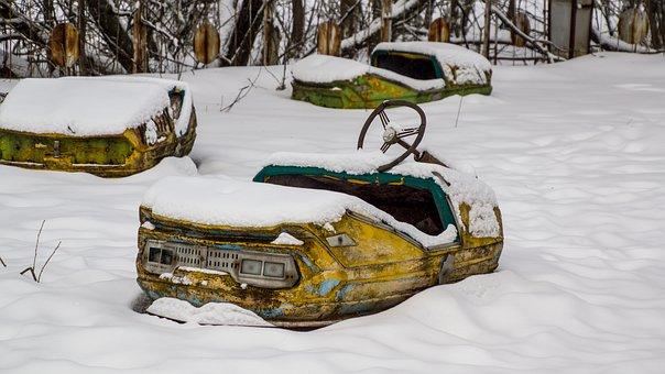 Pripyat, Bumper Car, Theme Park, Fairground, Ukraine