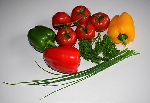 Food, Tomato, Vegetables, Healthy, Paprika, Cook, Diet