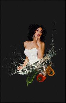 Beautiful, Woman, Young, Fashion, Photo Manipulation