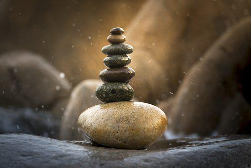 Balance, Background, Harmony, Stacked, Natural, Summer