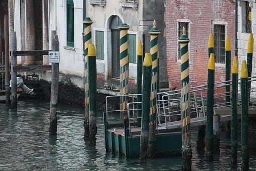 Water, Canal, Travel, Gondola, City, Venice, Italy