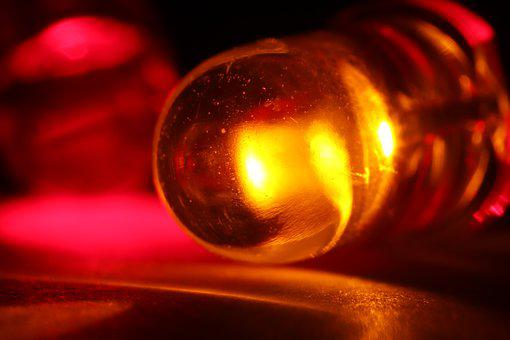 Red, Led, Light-emitting Diode, Light, Led Lamp, Lamp