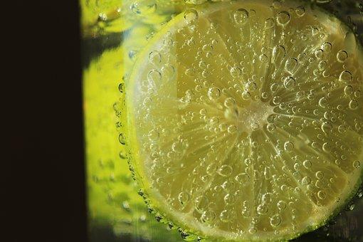 Lime, Fruit, Citrus, Slice, Drink, Summer, Cold, Bubble