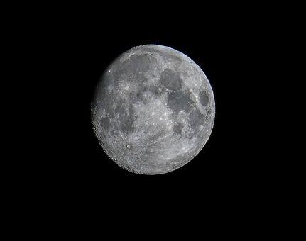 Moon, Astronomy, Waxing Moon, Lunar, Luna, Apollo