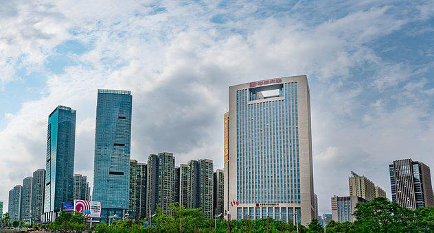 Skyscraper, Building, City, Modern, Office